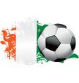 Ireland Soccer Grunge vector image