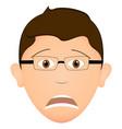 worried man avatar vector image