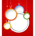 Christmas background with balls decorations vector image