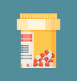 pill bottle with capsule pills vector image
