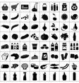 Set of supermarket symbols vector image vector image