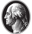 George Washington Portrait Vintage Style vector image