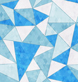 ice triangle seamless pattern vector image