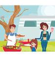 family having a picnic vector image vector image