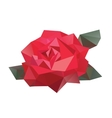 Geometric flower vector image