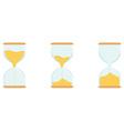 Three hourglass vector image