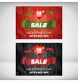 Valentine day sale banner vector image