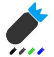 aviation bomb flat icon vector image