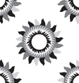 Black and white flower sun seamless pattern vector image