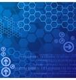 Blue digital background vector image