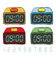 Digital Clock Set vector image