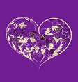 heart made of flowers and leaves vector image