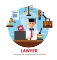 Lawyer Jurist Legal Expert vector image