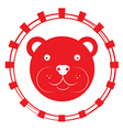 teddy bear stamp vector image