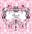 pink floral background with abstract chandelier vector image