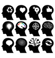 12 head icons vector image