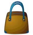 A bag with a blue handle vector image