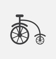 antique highwheel bike 1885 vector image vector image