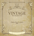 vintage frame with branches vector image