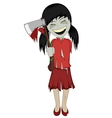 Zombie girl with surprise vector image