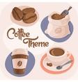 Coffee Theme Icons Set vector image