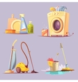 Cleaning Service 4 Cartoon Ions Set vector image