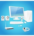 Computer and accessories vector image