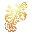 Decorative floral ornament vector image