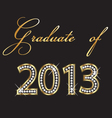 Graduates of 2013 design vector image