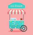 ice cream cart vector image
