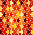 Seamless harlequin pattern-orange and red tones vector image