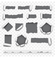 torn paper set vector image
