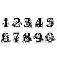Vintage numbers set vector image