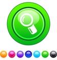 Zoom circle button vector image