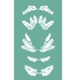 Collection of frames and borders of snowy pine vector image