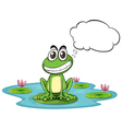 A frog at the pond with empty callout vector image vector image