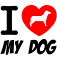 I love my dog heart vector image