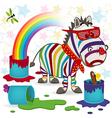 rainbow zebra vector image