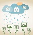 Rain photo vector image vector image