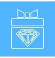 present with diamond icon Eps10 vector image