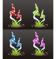 mushroom poison vector image vector image
