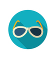 Sunglasses flat icon Summer Vacation vector image
