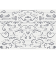 Vintage accents and ornaments vector image vector image