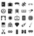adult games icons set simple style vector image