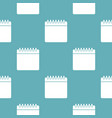 calendar pattern seamless blue vector image