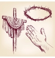christianity collection isolated hand drawn vector image