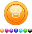 Crown circle button vector image