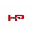 HP Logo Graphic Branding Letter Element vector image