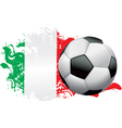 Italy Soccer Grunge vector image