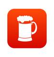 mug of dark beer icon digital red vector image